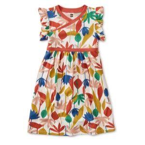 Tea Collection Retro Print Wrap Dress - Size 7